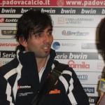 José Ángel Crespo, satisfecho con su primer gol en Italia