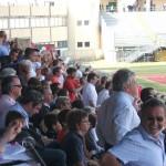 Il Presidente del Livorno Spinelli è sconsolato al 3-2 del Padova
