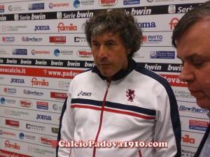 """Malesani: """"Ho visto un Padova veloce"""""""