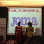 Feltscher e Babacar: Presentazione nuove maglie Calcio Padova Joma 2012/2013