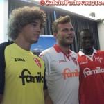 Feltscher, Trevisan e Babacar: Presentazione nuove maglie Calcio Padova Joma 2012/2013