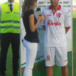 Cuffa uomo partita Sky intervistato da Federica Masolin