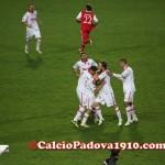 L'esultanza al gol di Raimondi al 92'