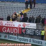 Tifosi biancoscudati a Novara